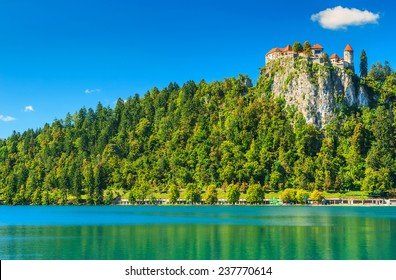 Lake Bled with castle,Slovenia,Europe