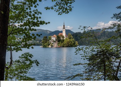Lake Bled with the island, Slovenia
