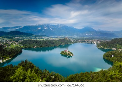 Lake bled panoramic / Slovenia