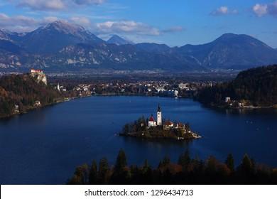 Lake Bled, Slovenia, panoramic view