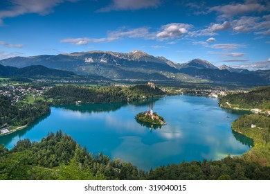 Lake Bled in summer