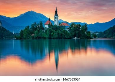 Lake Bled at sunrise - Slovenia