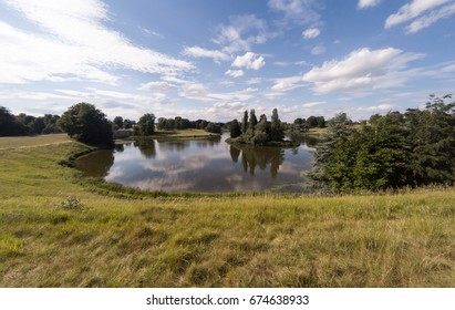 Lake in Blenheim Palace, Oxfordshire, England