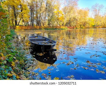 lake with boat