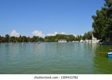 lake with boats