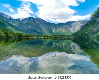 lake bohinj in slovenia national park