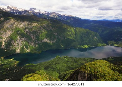 Lake Bohinj from Vogel cable car top station, Slovenia.