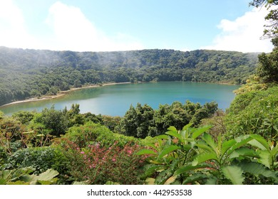Lake Botos (Blue Lake) in Poas Volcano National Park, Costa Rica