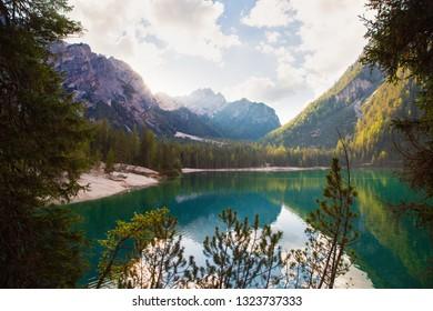 Lake Braies in Italy