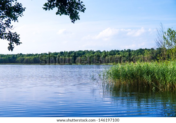 lake in brandenburg with blue water