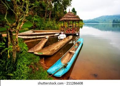 Lake Bunyonyi in Uganda, Africa