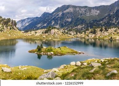 Lake Cabidornats in Aiguestortes National Park, Catalan Pyrenees