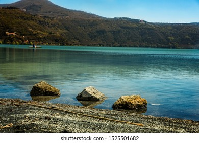 the lake of Castel Gandolfo near Rome