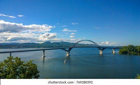 Lake Champlain Bridge between new york and vermont state