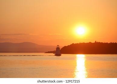 Lake Champlain at Sunset