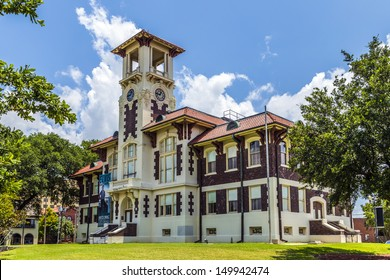 LAKE CHARLES, USA - AUGUST 9: visit famous historic city hall on August 9, 2013 in Lake Charles, USA.  The 1911 Historic City Hall opened its doors  after restauration in 2004  as cultural facility.