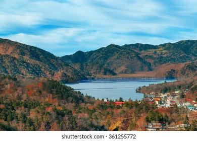 Lake Chuzenji at Nikko National Park in Tochigi Prefecture in Japan