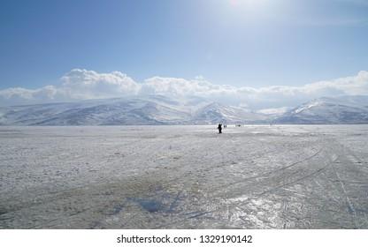 Lake Cildir in Ardahan, Turkey.