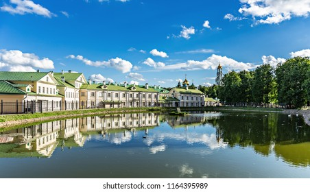 Lake in city Sergiev Posad, Russia