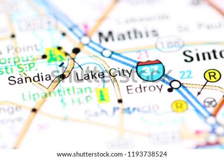 Lake City Texas Usa On Map Stock Photo Edit Now 1193738524
