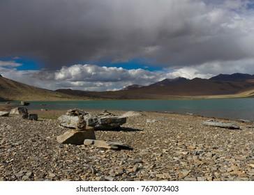 lake and clouds- ladakh, india