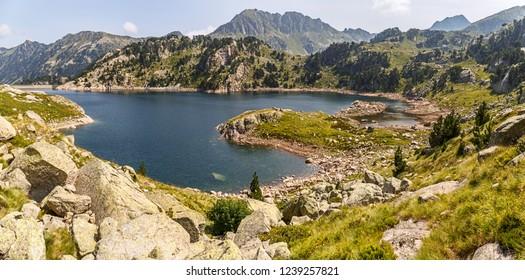 Lake Colomers in Aiguestortes National Park, Catalan Pyrenees