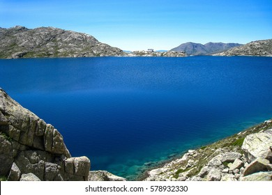 "Lake of Colomina.""Chariots of fire"" trail. Pyrenees mountain, Spain"