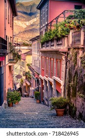 Lake Como. Belaggio, Italy. Summer time. European vacation, living life style, architecture and travel concept.