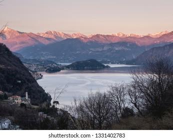 Lake Como in the evening