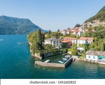 Lake of Como, house of George Clooney. Villa Oleandra, Laglio (Italy)  Summer 2019