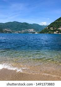 Lake Como, Italy - beautiful lake and mountains - Italian landscape