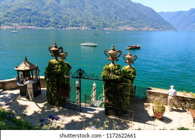 Lake Como, Italy. June 28, 2018.Villa del Balbianello is one of the most beautiful and popular tourist attractions in the Como region.
