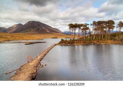 Lake in Connemara Mountains