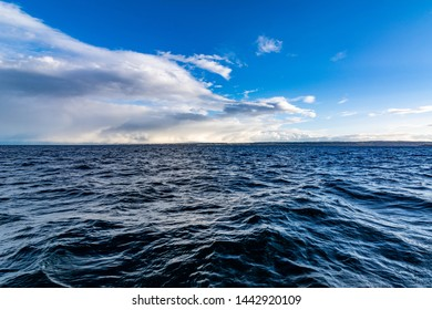 Lake Constance with blue water and blue sky