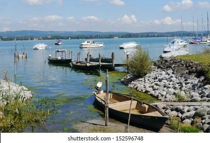 lake of constance Bodensee Iznang seaside lake panorama