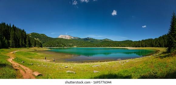 Lake Crno Jezero in Montenegro - Shutterstock ID 1695776344