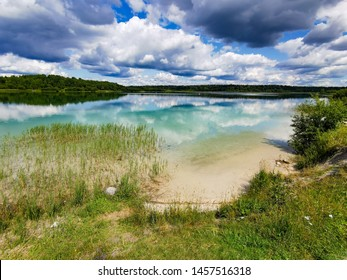 lake with crystal blue water