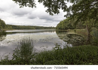 Lake Dagowsee in Eastern Germany in autumn