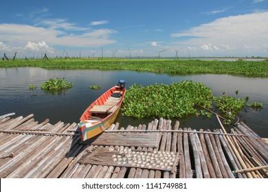 Lake Danau Tempe, Sulawesi, Indonesia