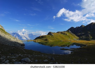 At Lake de Voux in the Swiss Alps