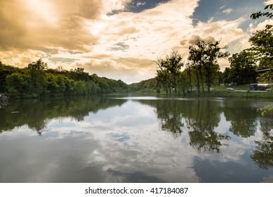 lake and deep sky