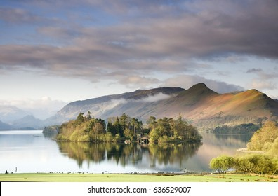 Lake Derwentwater at Keswick ,Lake District , England