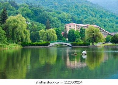 Lake in Dilijan, Armenia.