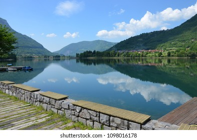 Lake d'iseo in Lombardy in Italy