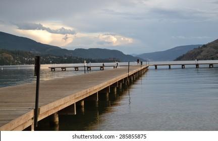 Lake dock, Vernon BC, July 2014