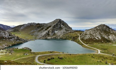 Lake Enol. Covadonga. Wester Massif. Picos de Europa National Park. Biosphere Reserve. Asturias. Spain