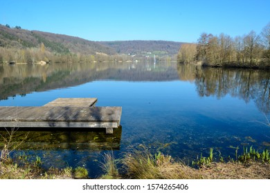 Lake at the entrance of the town Echternach in Luxembourg