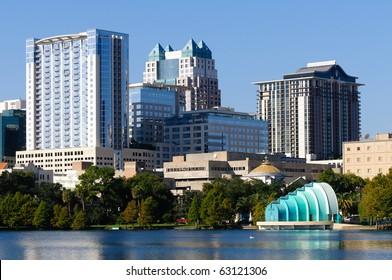 Lake Eola, downtown Orlando.