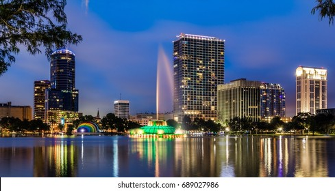 Lake Eola in Downtown Orlando, Florida.