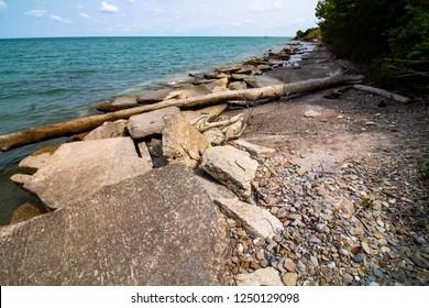 Lake Erie Coastline, Rubes Landing Ohio